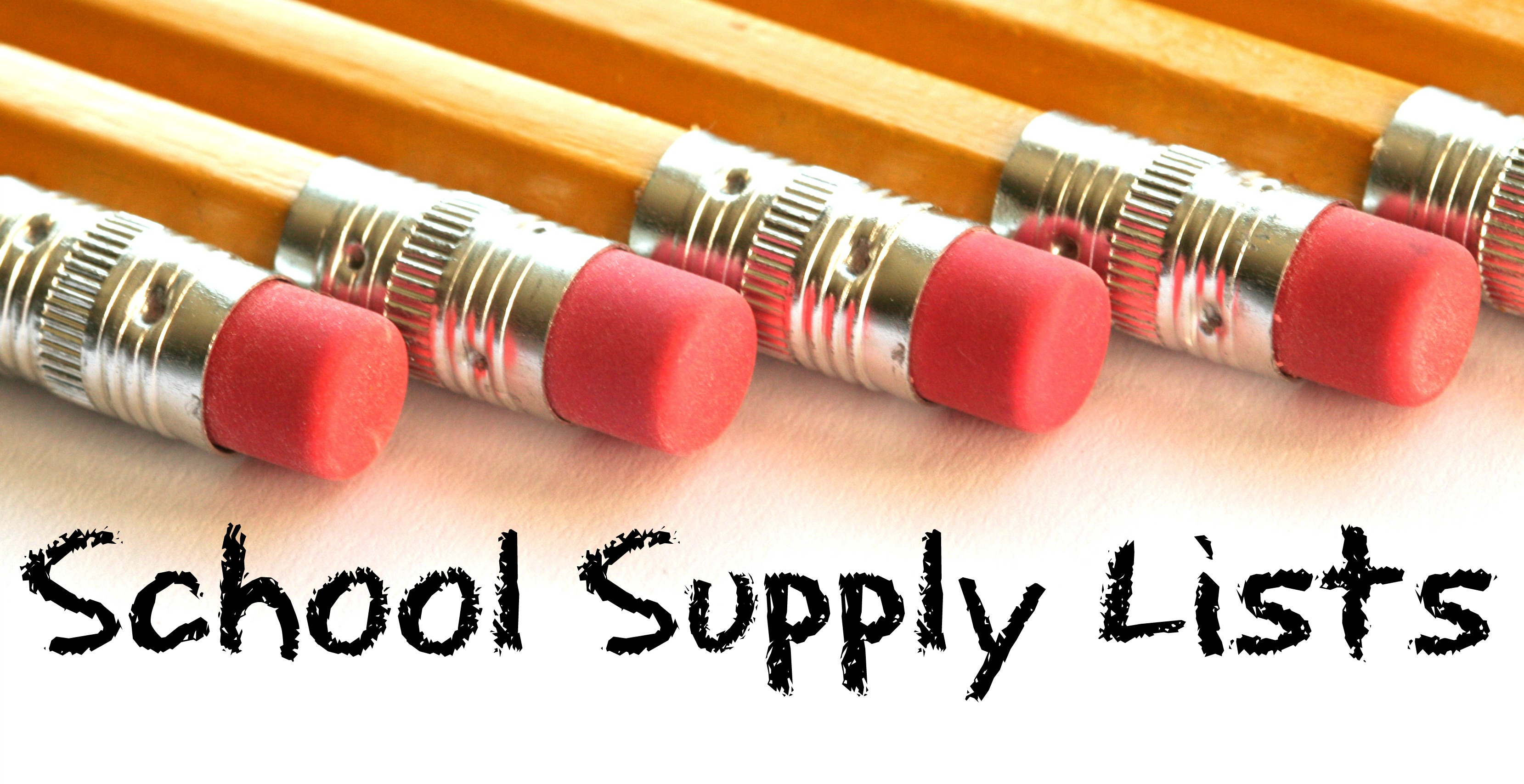 School supply lists picture