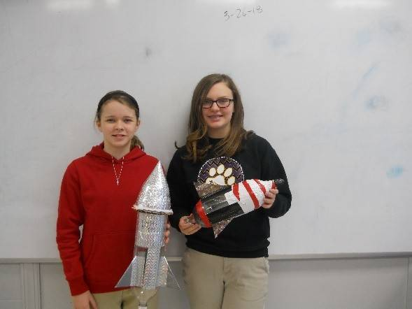 Students with rocket science projects